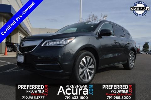 Certified Pre-Owned 2016 Acura MDX Tech 3.5L AWD