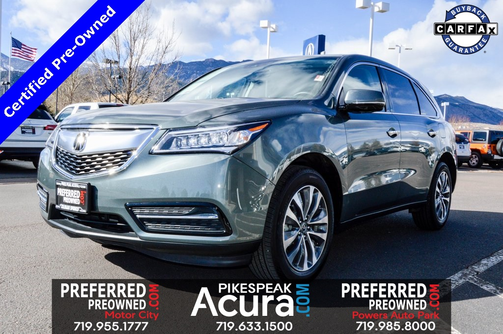 Certified Pre-Owned 2016 Acura MDX Tech 3.5L